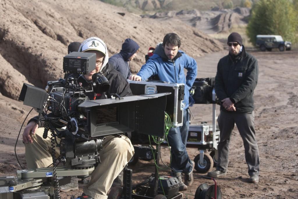 LOG_MakingOf_Kameramann Maximilian Hoever, Regisseur Krystof Zlatnik und Production Designer Michael Rudnik